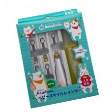 日本製 BabySmile S-204彩虹變色兒童電動牙刷組合套裝