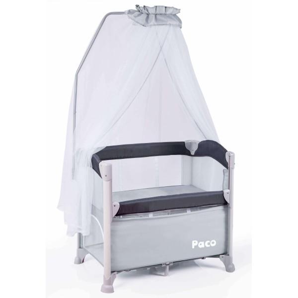 Paco 便攜式床邊嬰兒床 - 經典灰
